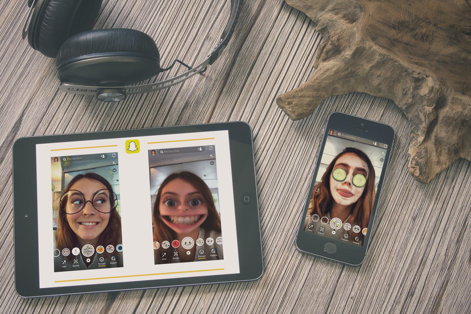 Top 5 de mes Lenses Snapchat préférées