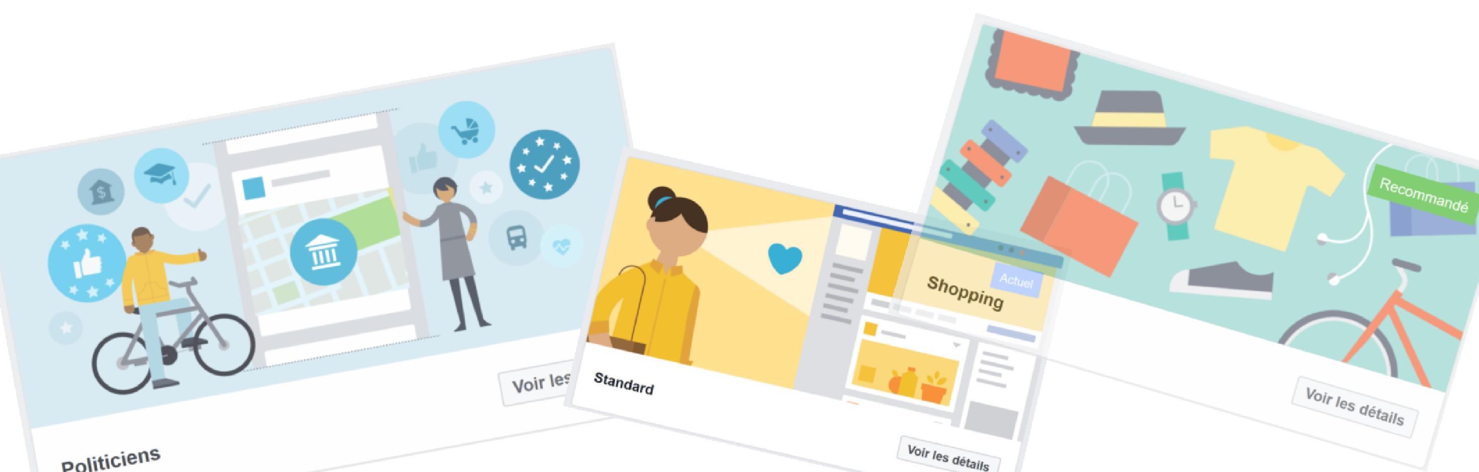 Réseaux sociaux : de nouveaux modèles de page Facebook